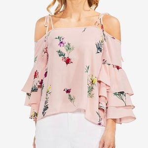 Vince Camuto cold-shoulder tiered top